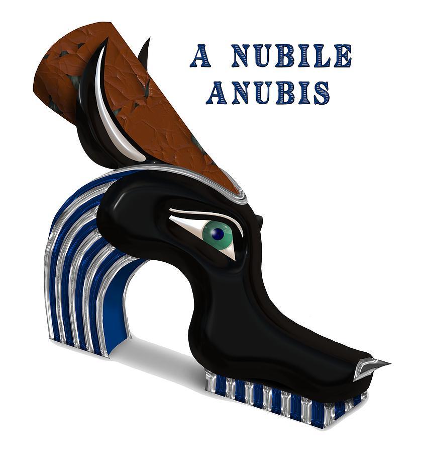 Anubis Digital Art - A Nubile Anubis by GOP Art