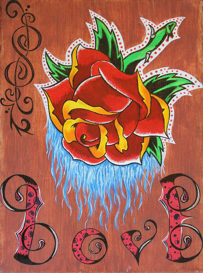 Rose Painting - A Rose For The Wife by Landon Clary