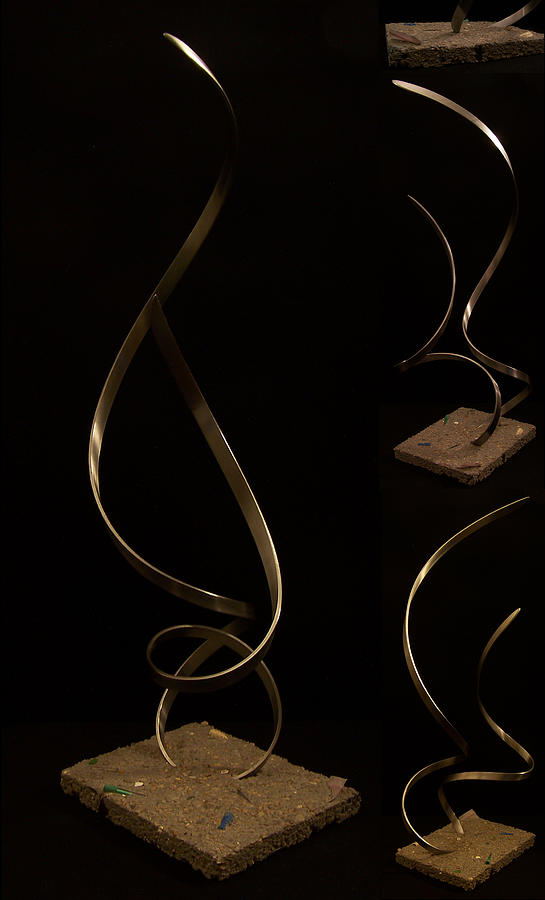 Steel Sculpture - A Song Of Joy Sadness And Hope by Evan Leutzinger