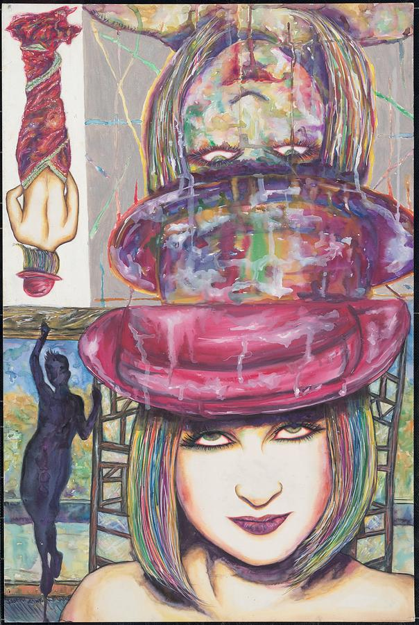 Cindy Lauper Mixed Media - A True Color by Joseph Lawrence Vasile