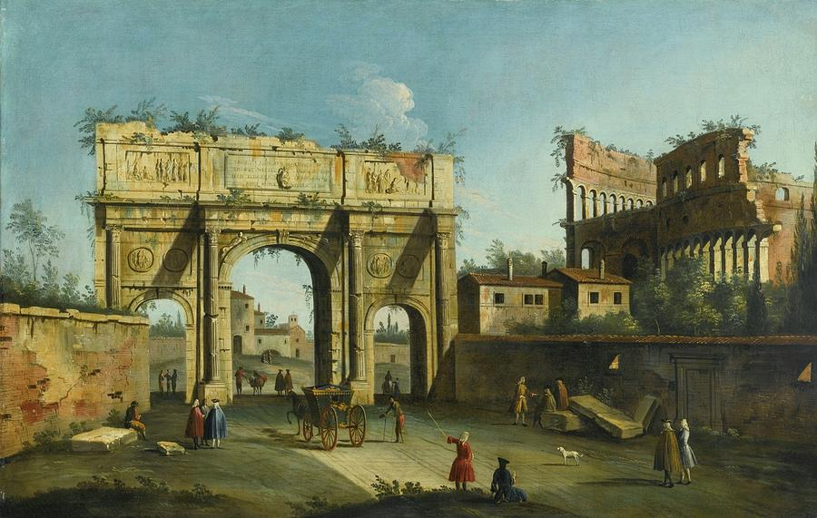 Rome Painting - A View Of The Arch Of Constantine by Apollonio Facchinetti