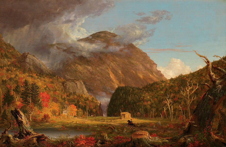 View Painting - A View Of The Mountain Pass Called The Notch Of The White Mountains, Crawford Notch by Thomas Cole