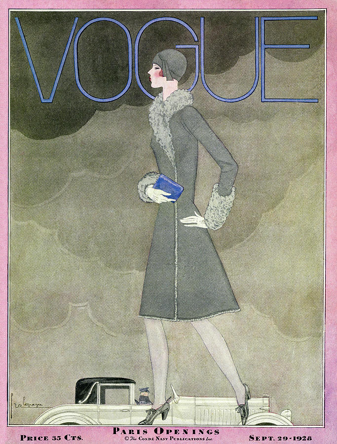 A Vintage Vogue Magazine Cover From 1928 Photograph by Georges Lepape