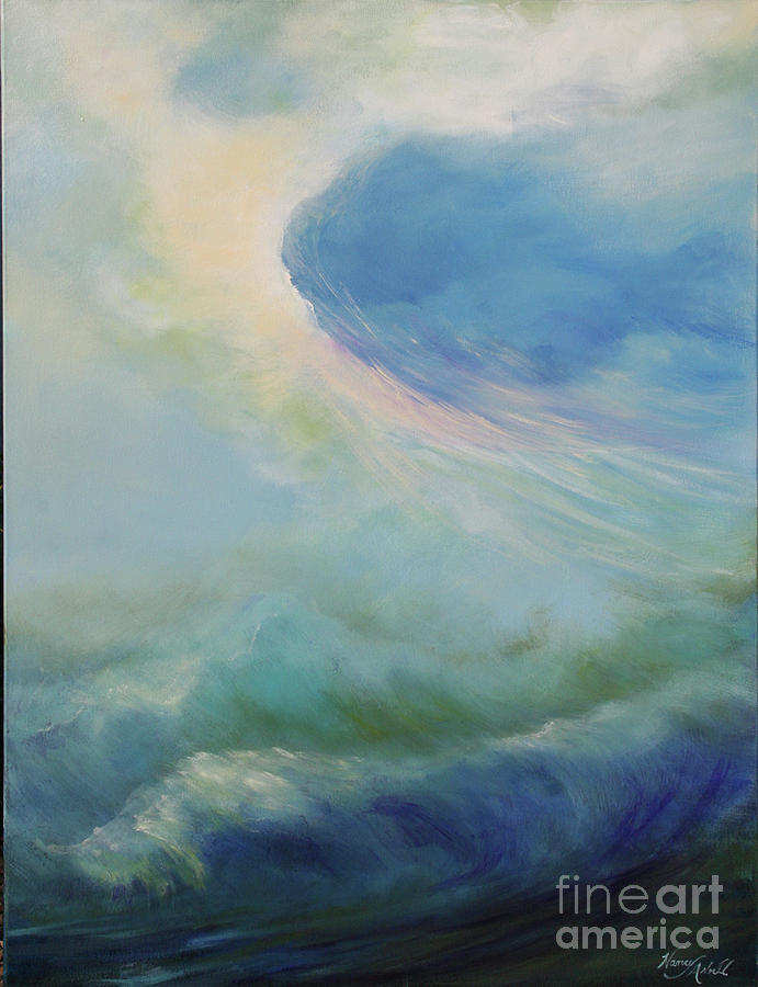 Waves Painting - A Way Out by Michele Hollister - for Nancy Asbell