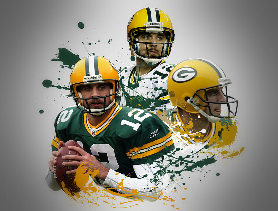 Packers Photograph - Aaron Rodgers Packers by Joe Hamilton