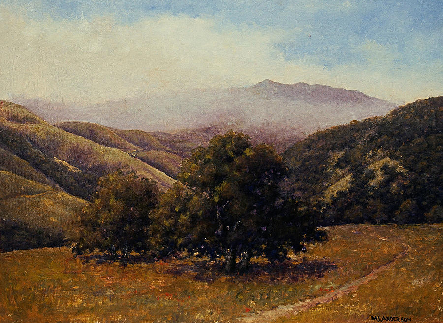 California Landscape Painting - Above Steinbeck Country by Marv Anderson