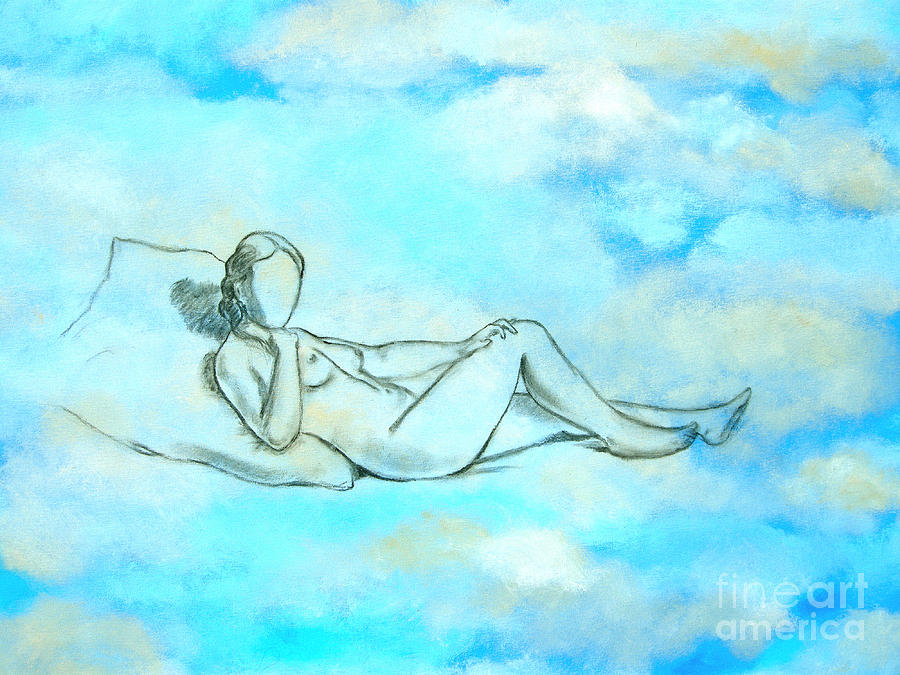 Nude Painting - Above The Clouds by Jeannette Ulrich