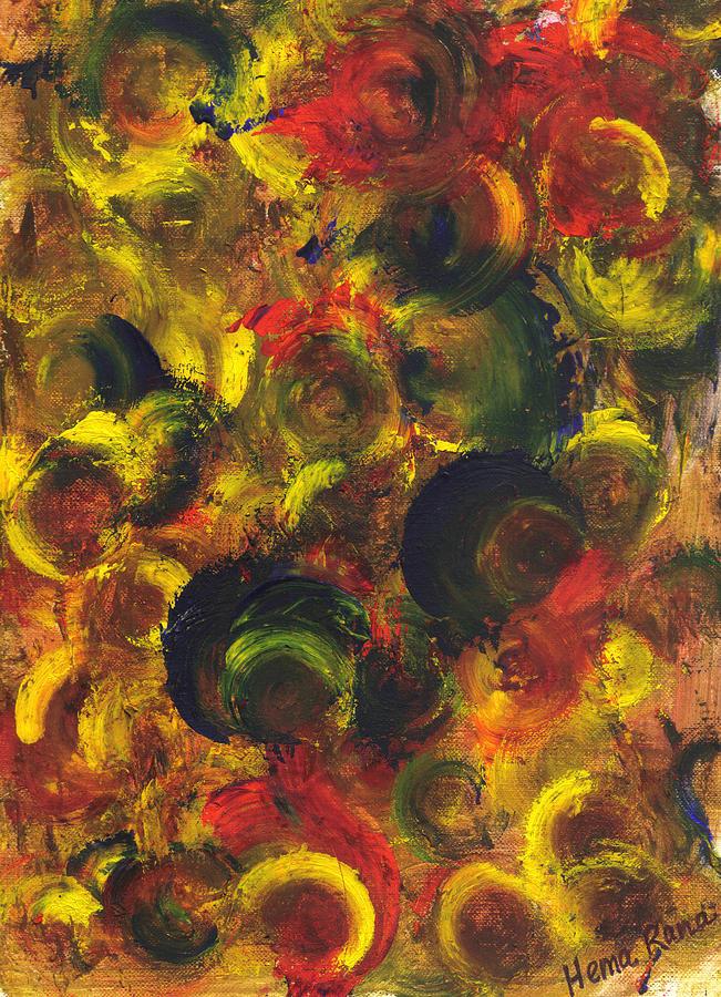 Abstract Painting Painting - Abstract Art by Hema Rana