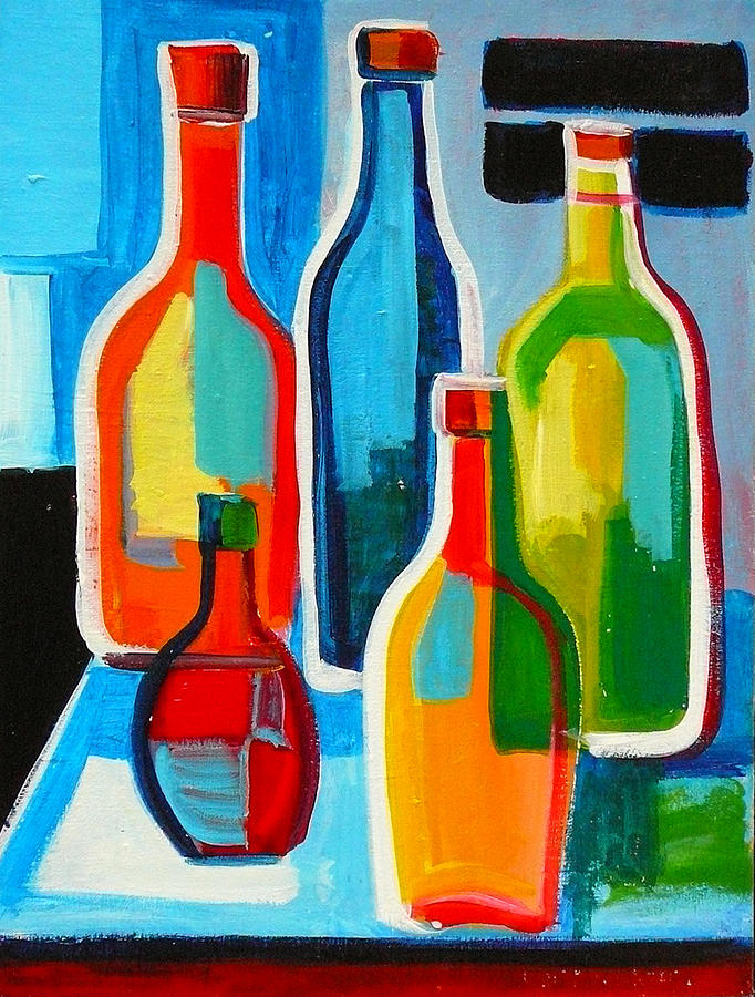 Abstract Bottles by Richard Fritz