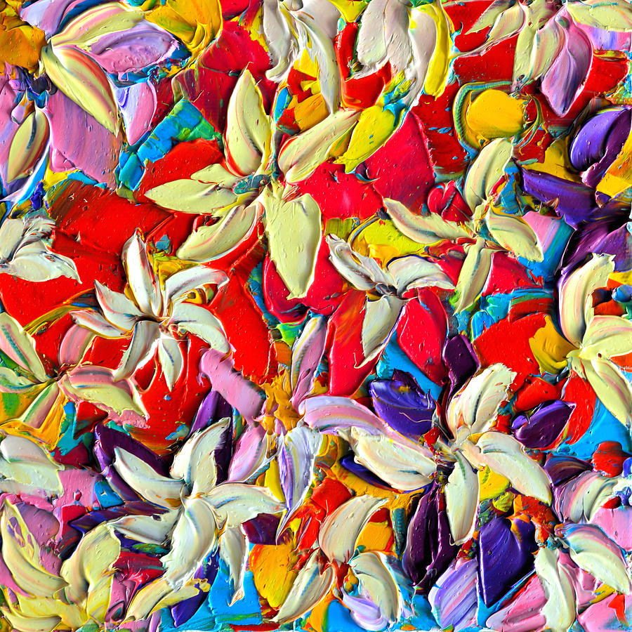 Abstract Colorful Flowers 7 - Paint Joy Series Painting by Ana Maria ...