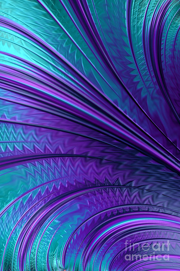 Abstract In Blue And Purple Digital Art