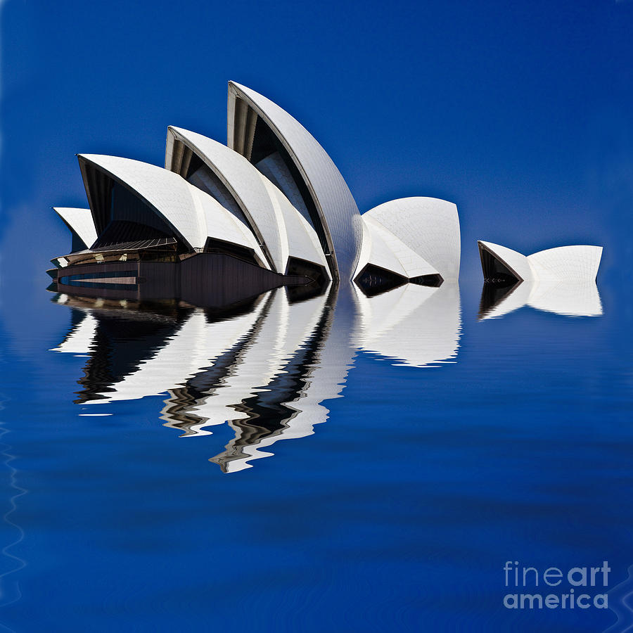 Sydney Opera House Photograph - Abstract Of Sydney Opera House by Avalon Fine Art Photography