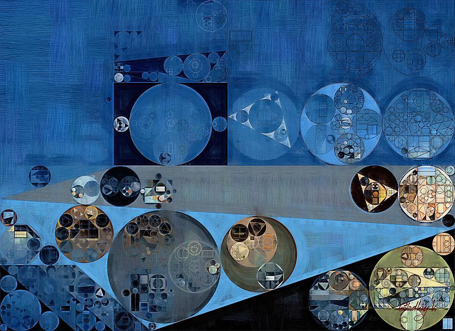 Painted Digital Art - Abstract Painting - Bermuda Grey by Vitaliy Gladkiy