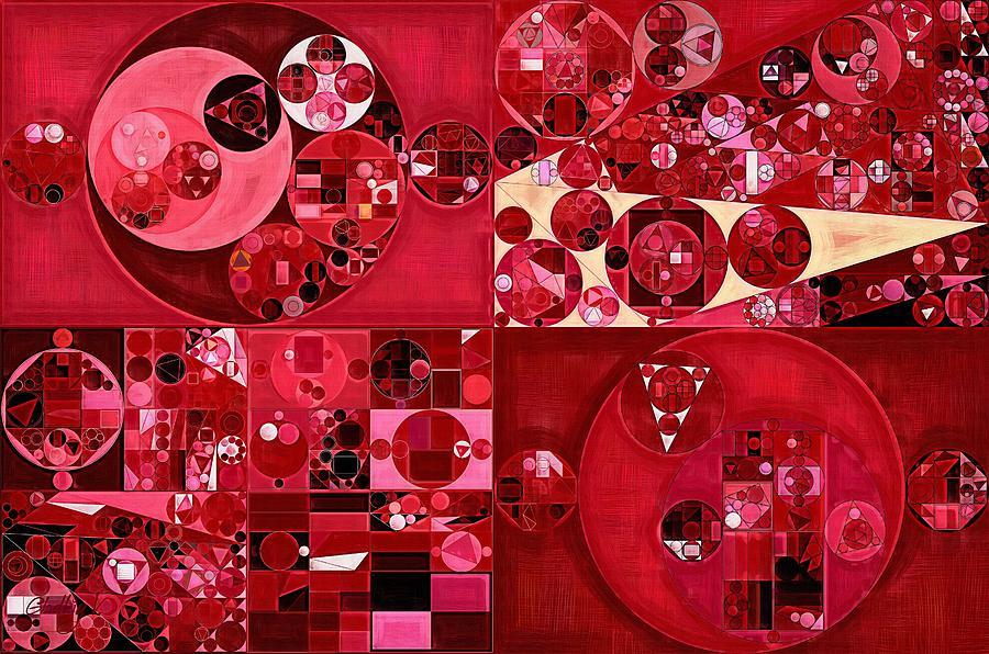 Beauty Digital Art - Abstract Painting - Dark Scarlet by Vitaliy Gladkiy