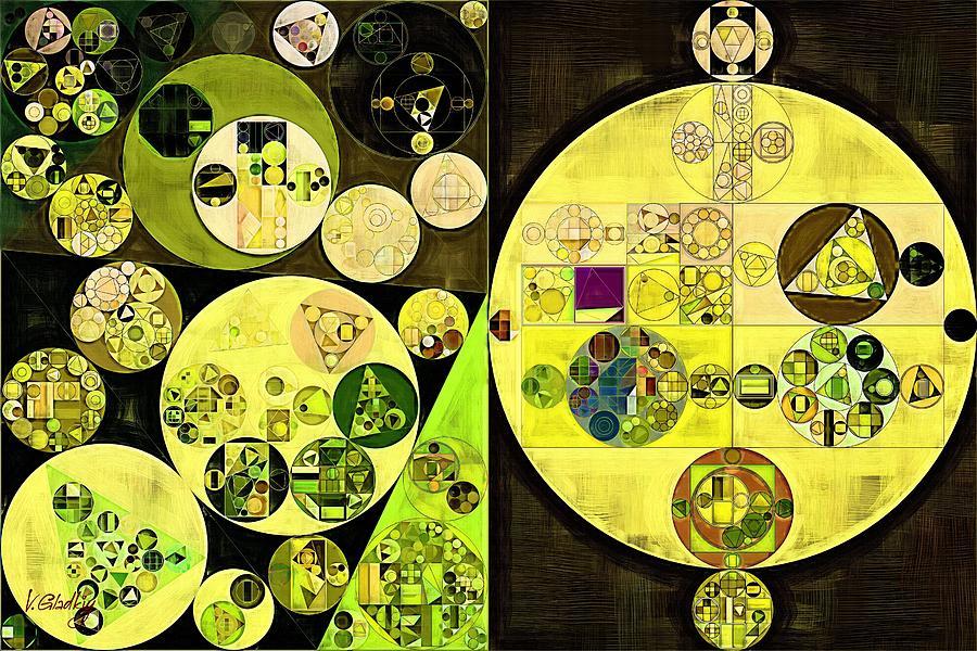 Fashion Digital Art - Abstract Painting - Trendy Green by Vitaliy Gladkiy