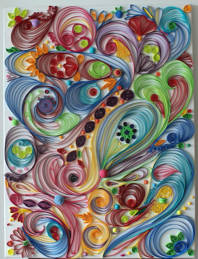 Abstract Quilling Painting By Suchita Babar