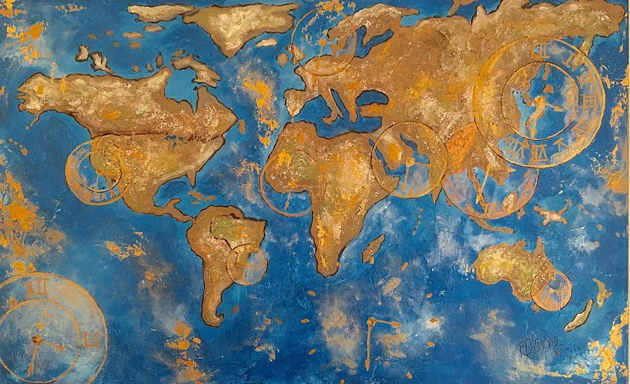 Maps Painting - Acceleration  by Eliene Nunes