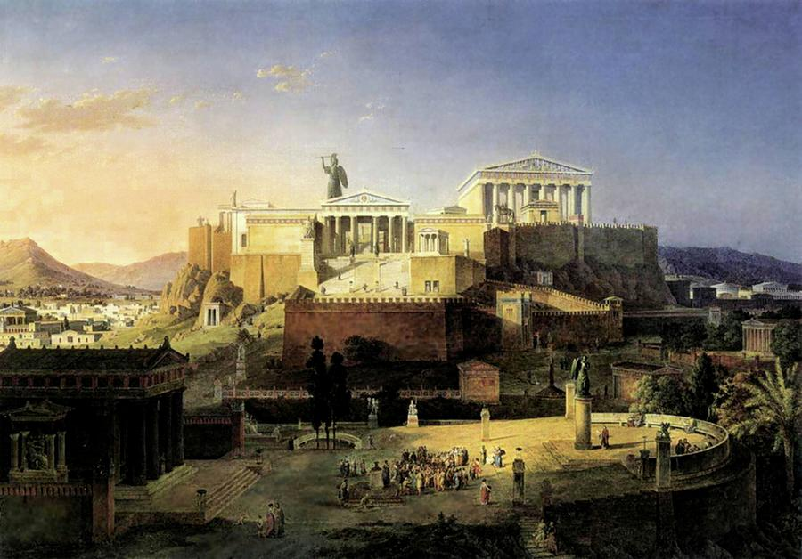 Acropolis Of Athens by Leo von Klenze