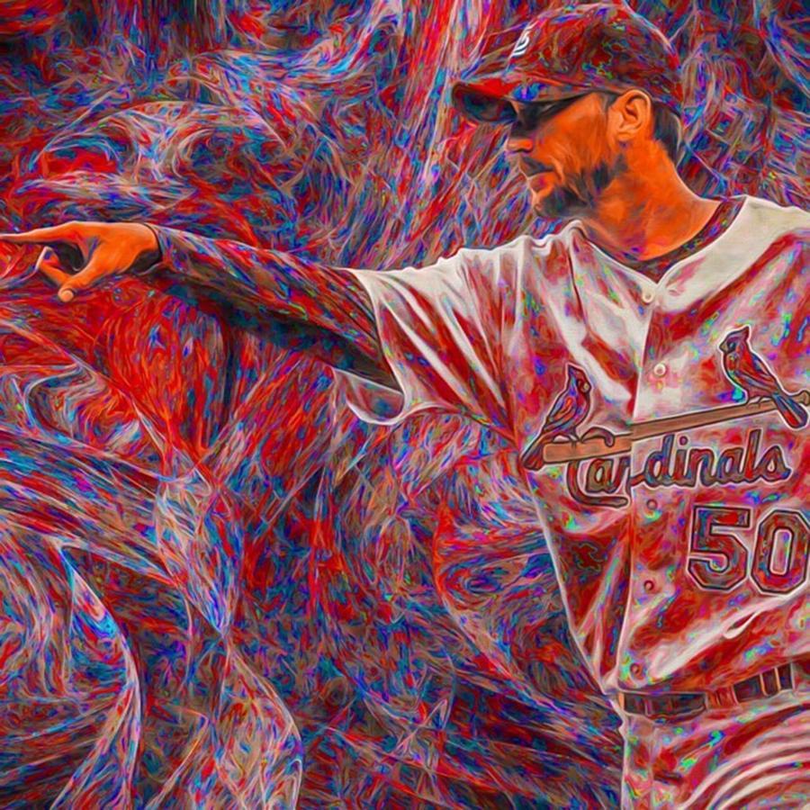 Painting Photograph - #adamwainwright #50 #cardinals by David Haskett II