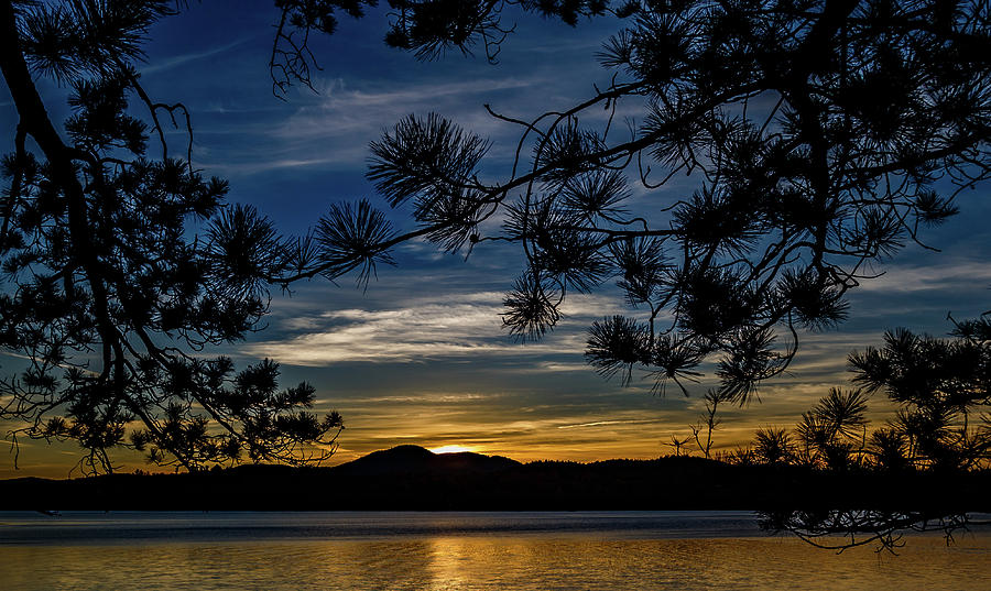 Long Lake Photograph - ADK by Mary Saccocci