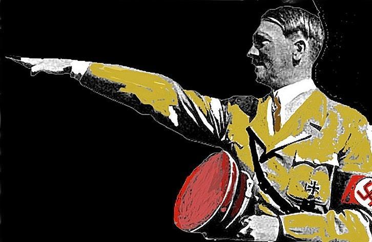 Adolf Hitler Saluting  Circa 1933-2012  Photograph by David Lee Guss