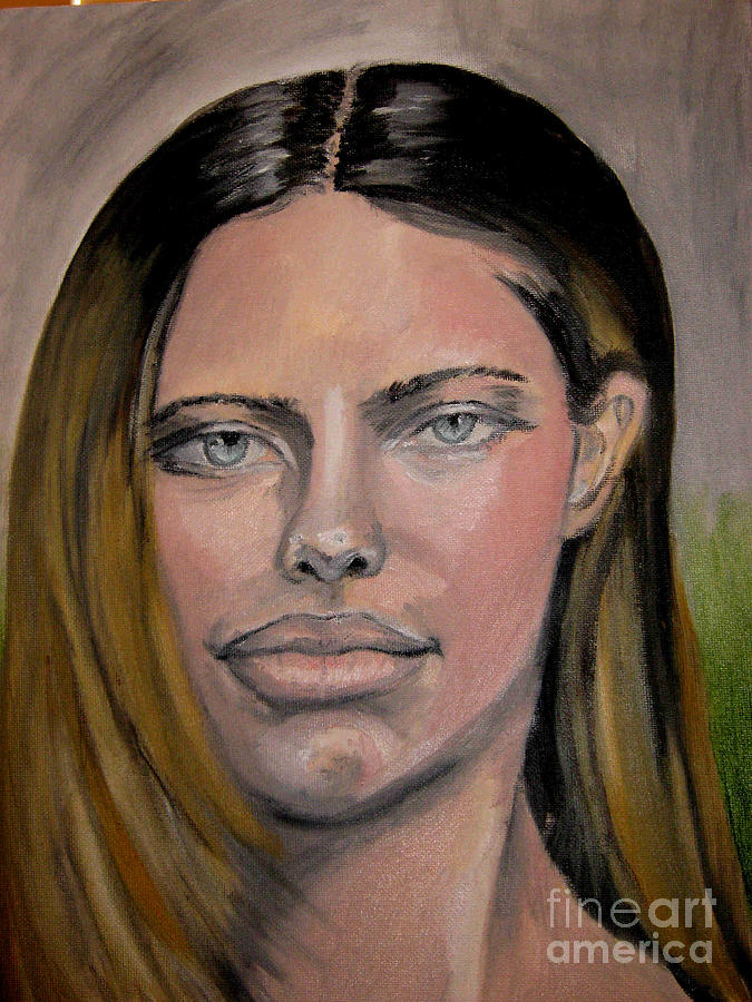 Adriana Lima Painting by Thomasina Marks