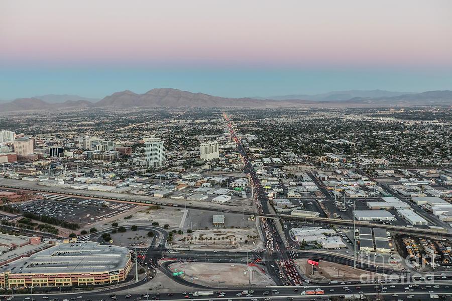 Las Vegas Photograph - Aerial View Of Las Vegas City by Sv