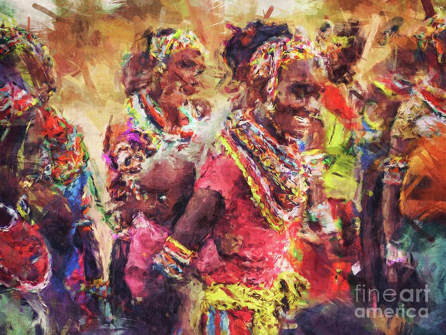 African Digital Art - African Woman by Phil Perkins