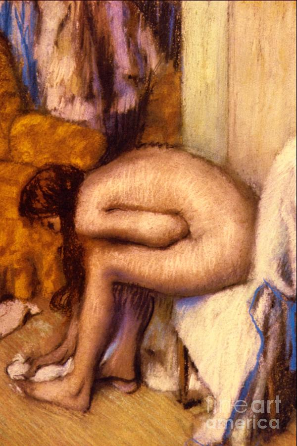 Degas Pastel - After The Bath by Edgar Degas