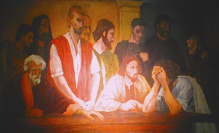 Last Supper Painting - After The Last Supper by G Cuffia