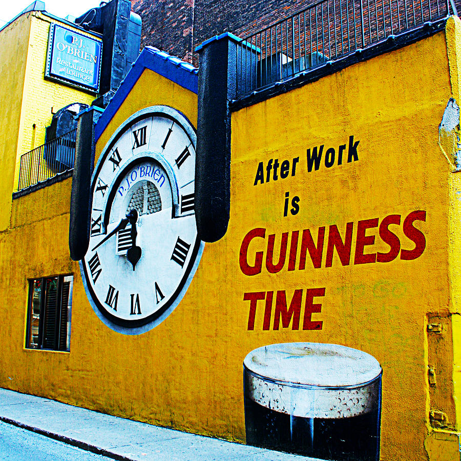 After Work Is Guinness Time Photograph by Alex Pyro