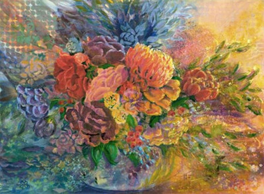 Floral Painting - Afternoon Bouquet by Judith Kerrigan Ribbens