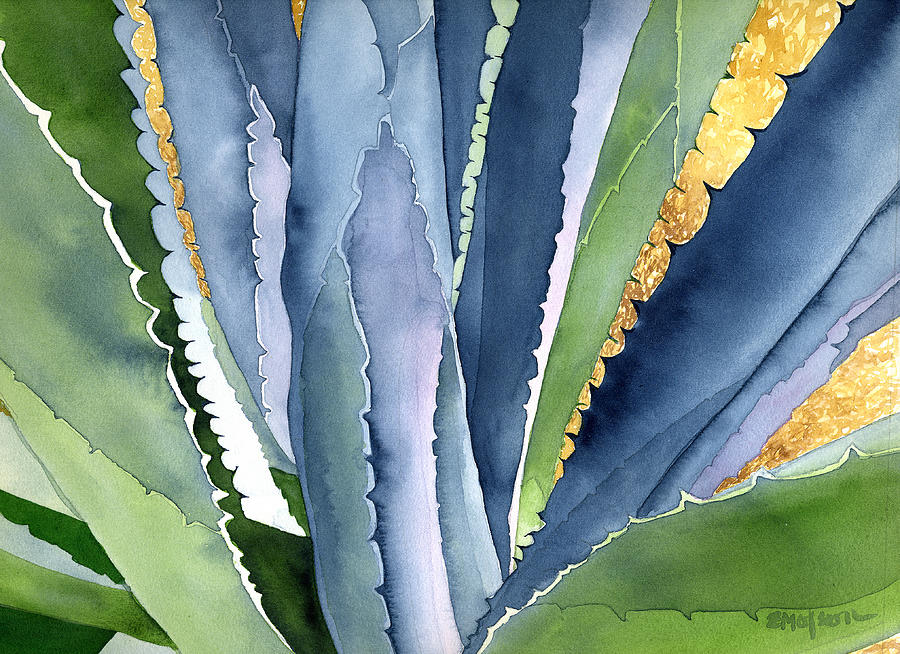 Botanical Painting - Agave 2 by Eunice Olson