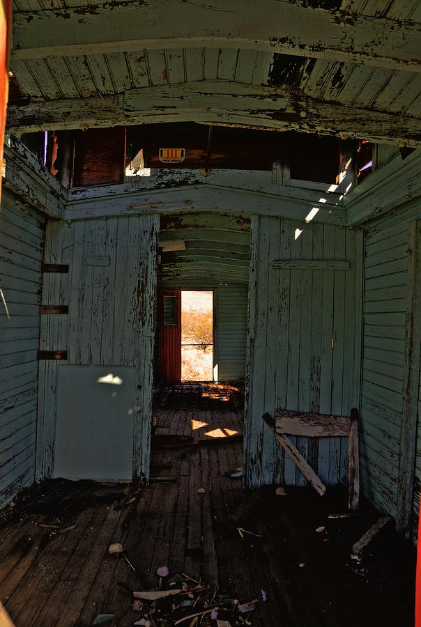 Caboose Photograph - Aging Red Caboose by Patrick  Flynn