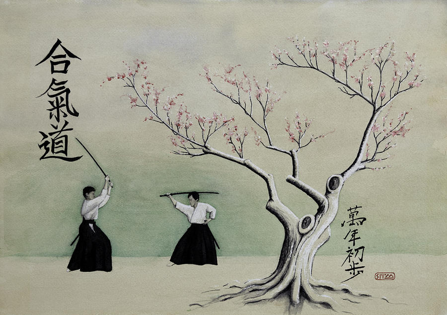 Aikido Painting - Aikido Always Beginning by Scott Manning