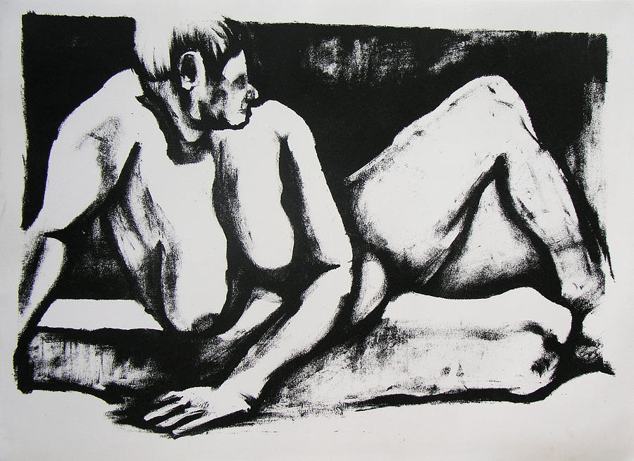 Nude Drawing - Air Conditioned Stomach by Brad Wilson