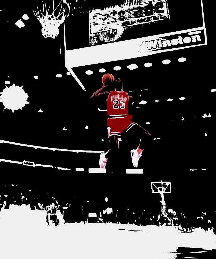 Air Jordan 1988 Slam Dunk Contest Mixed Media by Brian Reaves 6c07e3c089