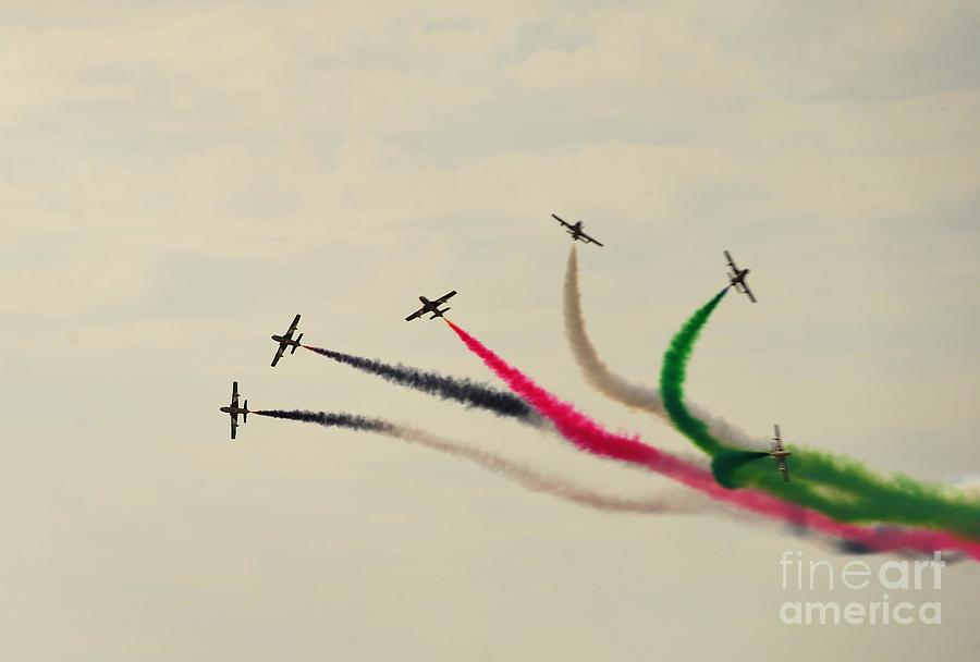 Air Show Painting - Air-show by Celestial Images