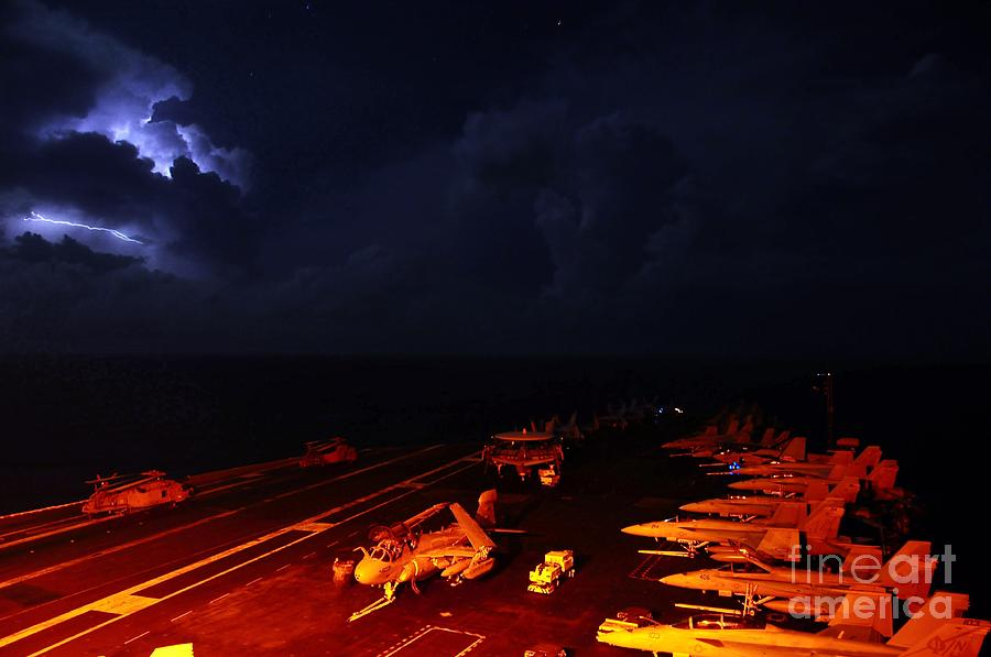 Aircraft Carrier Painting - Aircraft Carrier by Celestial Images
