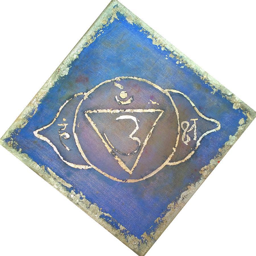 Ajna Painting - Ajna - Third Eye Chakra  by Silk Alchemy