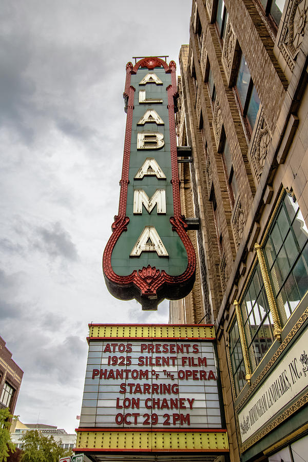 Sign Photograph - Alabama Theater by Mike Dunn