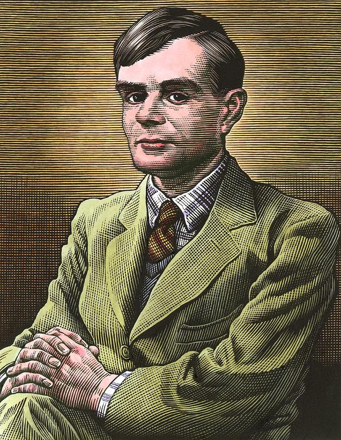 Alan Turing Photograph - Alan Turing, British Mathematician by Bill Sanderson