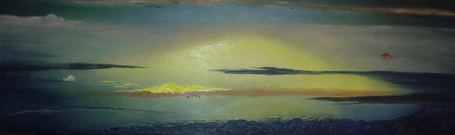 Sunset Mixed Media - Alaskan Sunset by Anna Villarreal Garbis