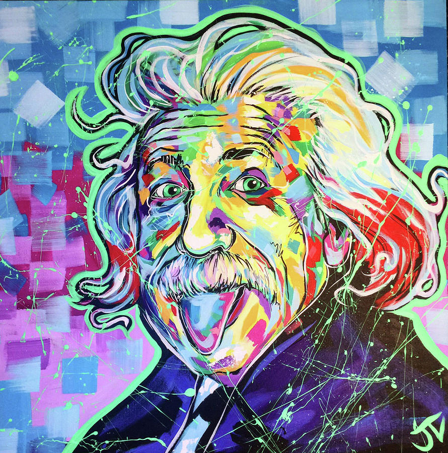 Albert Einstein Painting By Jay V Art
