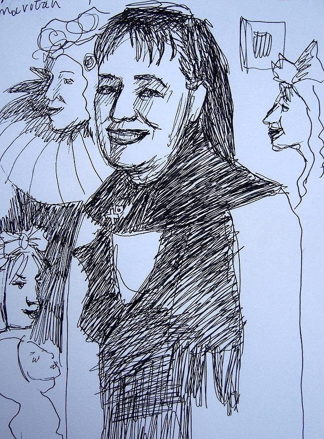 Alev Mavitan Drawing by Lesya Demchenko