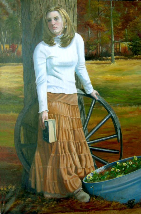 Portrait Painting - Alexandria by Pat Aube Gray