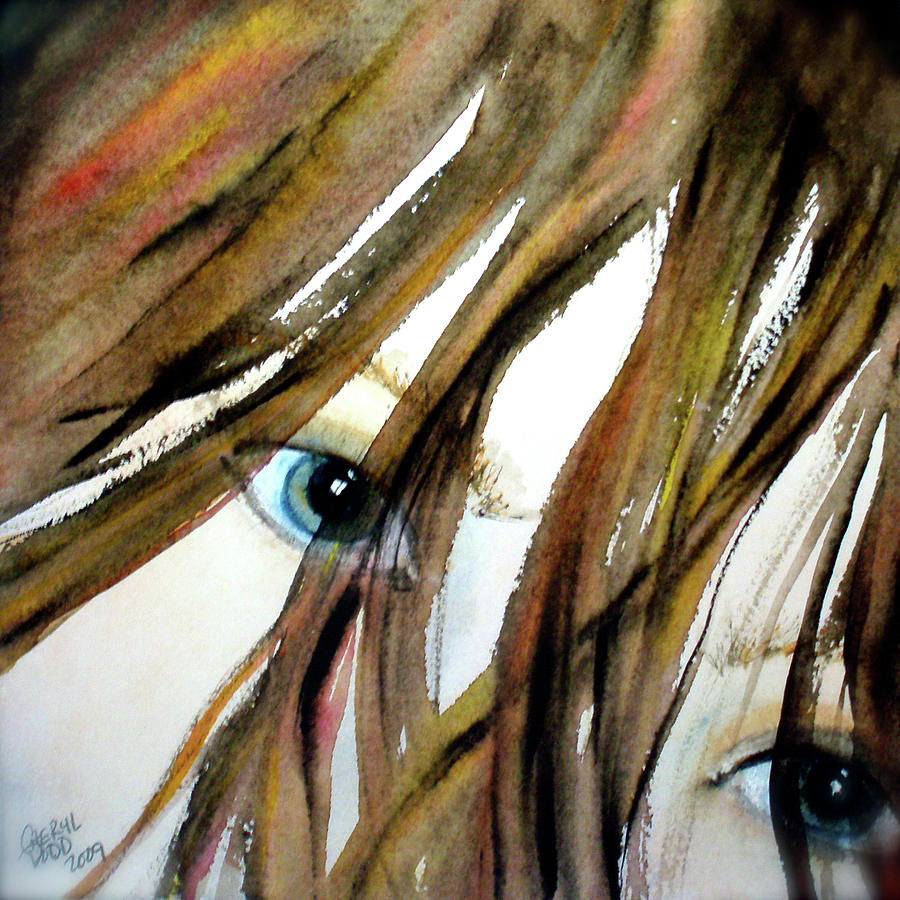 Eyes Painting - Alexs Eyes by Cheryl Dodd