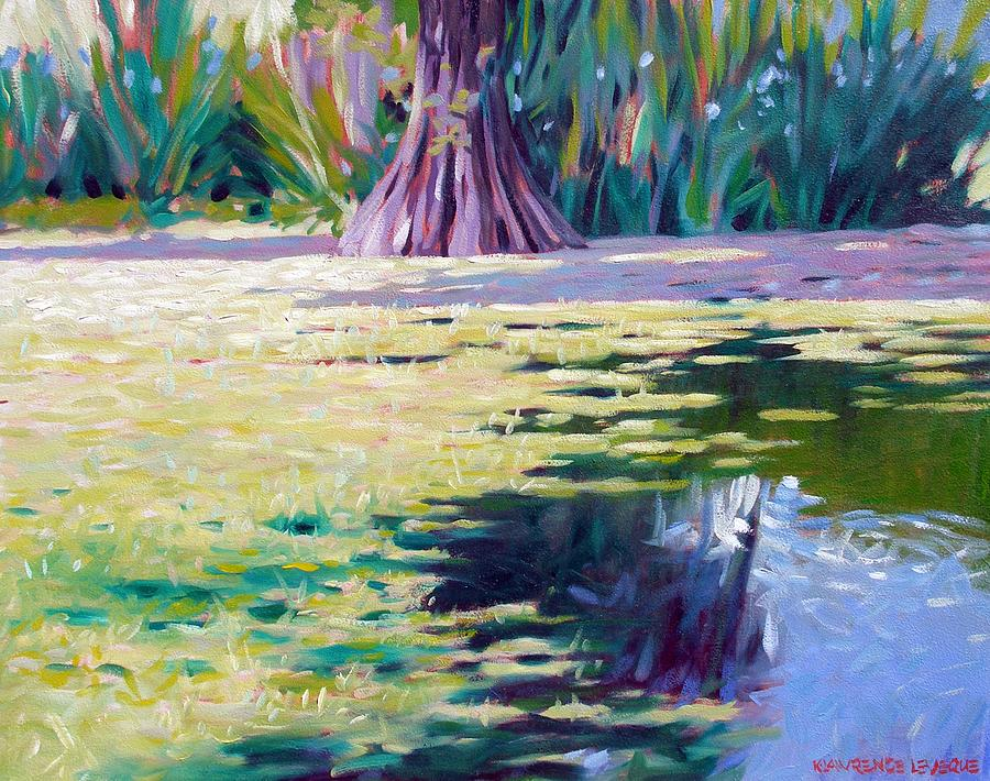 Water Painting - Algae by Kevin Lawrence Leveque
