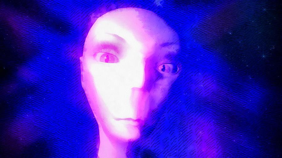 Alien In Space Painting