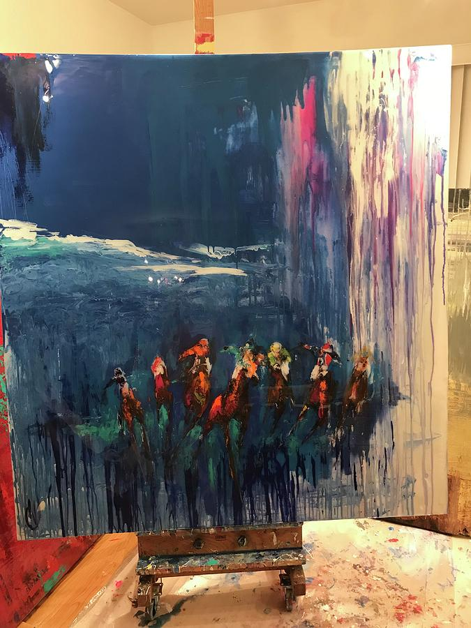 All Out Painting by Heather Roddy